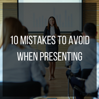 10 mistakes to avoid when presenting