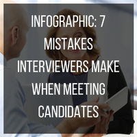 Infographic of 7 mistakes interviewers make